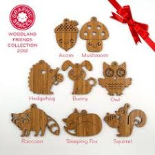 woodland animal ornaments decorative wooden cut outs templates