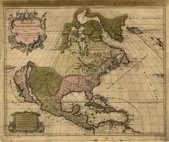 French Map French Map Of North America 1694 Old Maps Pinterest