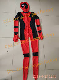 Spandex Halloween Costumes Dhl Arrival Body Lady Red Black Deadpool Zentai