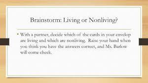 living nonliving living or nonliving bellringer quiz remember