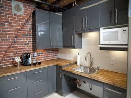Gray Kitchen Backsplash White Brick Backsplash Taking Advantage Of Brick Walls In The