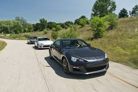 ricer subaru brz comparison test 2013 hyundai genesis coupe 2 0t r spec vs 2013
