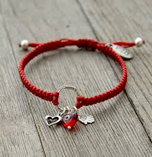 red charm bracelet images Heart circle of protection red charm bracelet adjustable with jpg