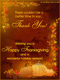 thank you on thanksgiving ecardcorner