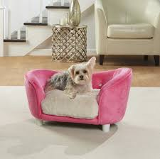 enchanted home pet ultra plush snuggle dog sofa with cushion