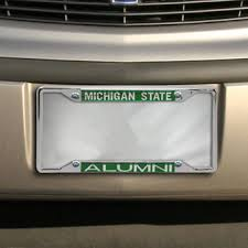 msu alumni license plate frame michigan state spartans license plates michigan state