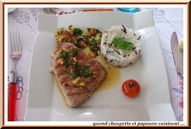 comment cuisiner le thon frais longe de thon sauce vierge quand choupette et papoune cuisinent