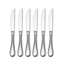 amazon com mikasa bravo stainless steel steak knife set of 6