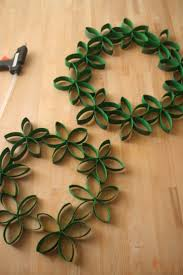 paper crafts toilet paper roll wreath christmas paper crafts