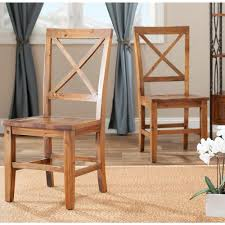 safavieh johnny brown pine dining chair set of 2 amh6506a set2