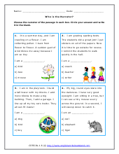grade 1 language arts worksheets