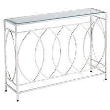 Stainless Steel Sofa Table Elana Silver Stainless Steel Console Table Pier 1 Imports