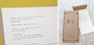kraft paper wedding programs typewriter font wedding note and kraft paper program tiny pine press