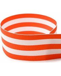 striped grosgrain ribbon amazing deal 5 8 orange white taffy striped grosgrain ribbon