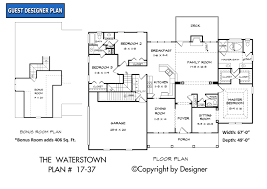 house plans ranch waterstown house plan house plans by garrell associates inc