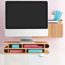 three by three ashwood up rise desktop organizer office walls