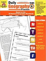 amazon com daily geography practice grade 6 0023472037152