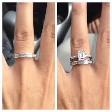 wedding cut rings images Image result for wedding bands for emerald cut engagement rings jpg