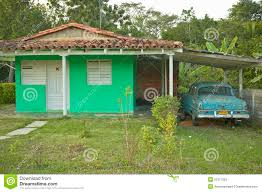 green house and old car in carport in the valle de vi ales in