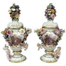 Meissen Vase Value Pair Of Meissen Schneeballen And Intricately Ormolu Mounted