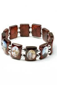 religious bracelet hf a285 religious saints bracelet rosarycard net