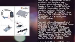 durablow gfk 160 fireplace stove blower complete kit for lennox
