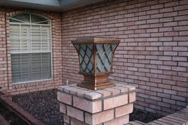 solar powered pillar lights premium classic solar pillar light in bronze yardbright landscape