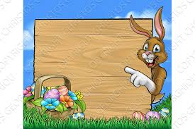 easter bunny sign background textures creative market