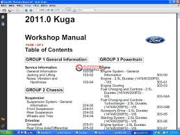 ford kuga 2011 mk1 workshop manual auto repair manual forum