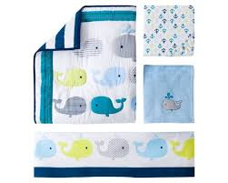 Whale Crib Bedding Circo 4pc Crib Bedding Set Whales N Waves Ebay