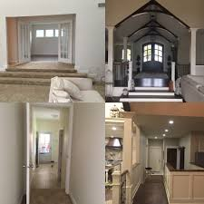 front foyer before and after and garage entrance mudroom and