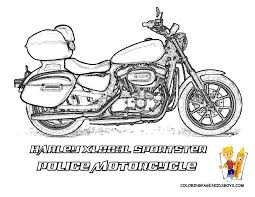 police motorcycle coloring pages creativemove me