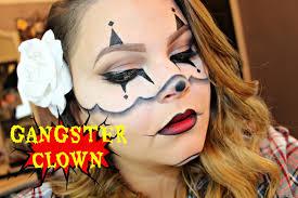 chrisspy u0027s gangster clown halloween makeup my tutorial youtube