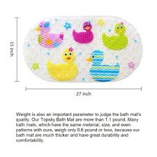 Kids Bathtub Mat 39cmx69cm Soft Tpr Non Slip Baby Kids Safety Shower Bath Tub Mat