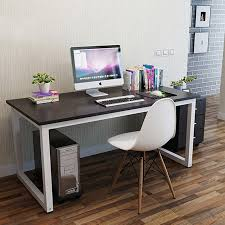 Metal Computer Desks with Home Office Foldable Table Wooden Metal Computer Desk Study Table