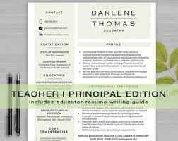 teacher resume items principal resume etsy