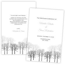 winter wedding programs folded wedding program template winter forest diy printable