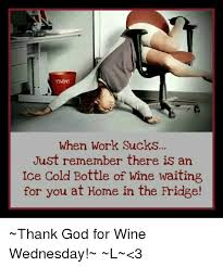 Work Sucks Meme - when work sucks just remember there is an ice cold bottle of wine