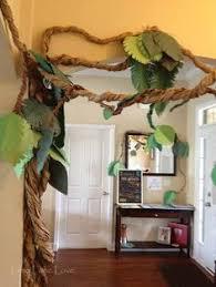 diy palm tree decor jungle palm and luau