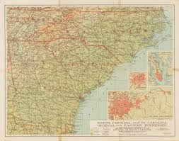 Map Of Tenn North Carolina South Carolina Georgia And Tennessee The Portal