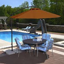 Patio Umbrellas Offset Shop Blue Wave Santiago Terra Cotta Offset 10 Ft Patio Umbrella