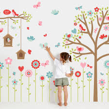 Vinyl Tree Wall Decals For Nursery by Wall Stickers Nursery Stickers Wall Decals Tinyme
