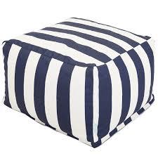 decor blue stripes navy ottoman for your beach house decor