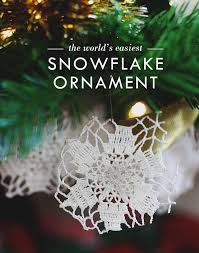 the world s easiest snowflake ornaments