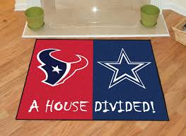 doormat funny texans dallas cowboys house divided rugs