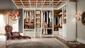 bespoke and accessorized walk in closet bedroom bella vita