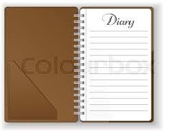 Scrapbook Binder Journal Date Experience Day Plan Agenda Vector Line Period