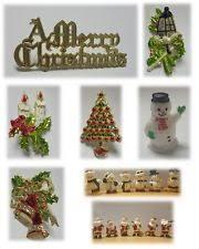 Christmas Cake Decorations Santa Sleigh by Christmas Tree Cake Decorations Ebay