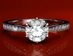 what is milgrain tapered pave engagement ring with milgrain edges in 14k white gold