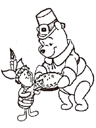 winnie the pooh thanksgiving day free coloring page animals